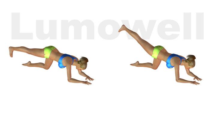Slanci posteriori carponi gamba distesa esercizio for Dimagrire interno coscia benessere 360