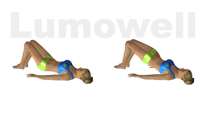 Sollevamento del bacino esercizio for Dimagrire interno coscia benessere 360