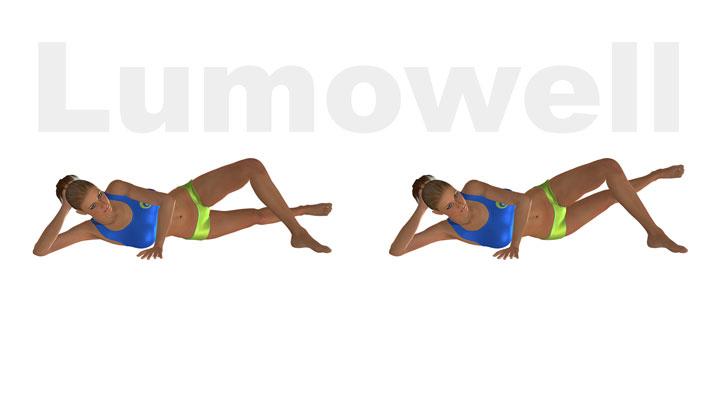 Adduttori distesi su fianco esercizio for 5 esercizi per interno coscia