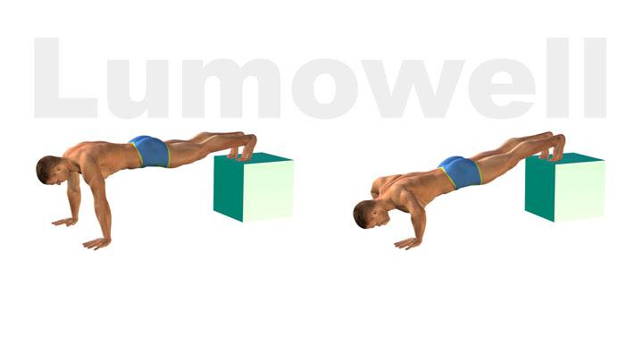 Piegamenti Sulle Braccia Gambe Sollevate Esercizio