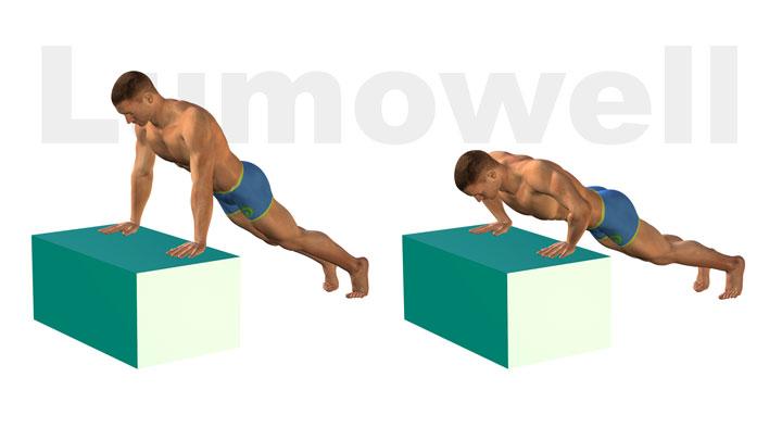 Piegamenti sulle braccia inclinati esercizio for Dimagrire interno coscia benessere 360