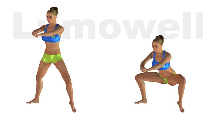 Sumo squat ad una gamba esercizio for Interno coscia non dimagrisce
