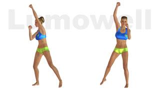 Aerobica allenamento di 35 minuti di per dimagrire a casa for Dimagrire interno coscia benessere 360
