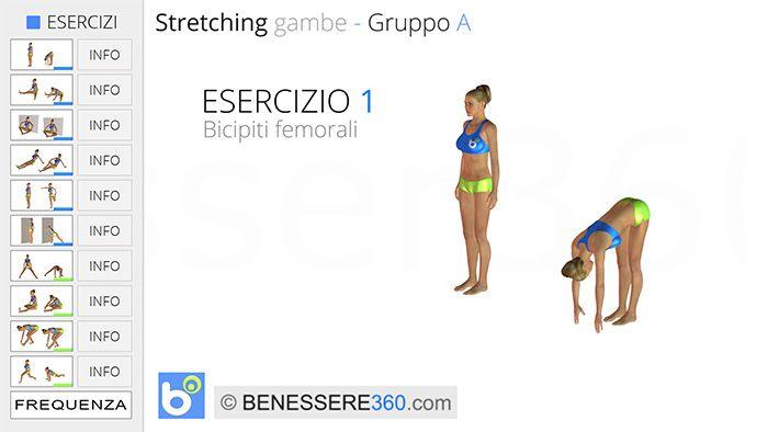 stretching gambe - esercizio 01: bicipiti femorali