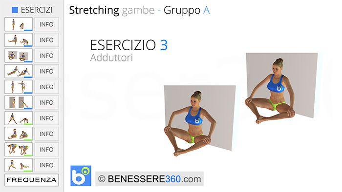 Stretching gambe - esercizio 03: adduttori