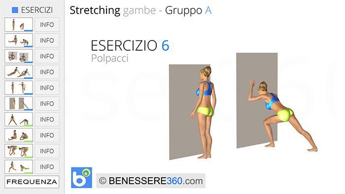 Stretching gambe, esercizio 06: polpacci