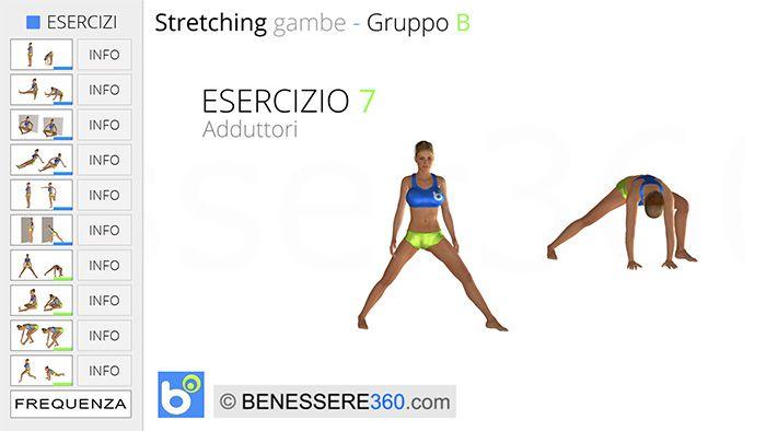 Sretching gambe, esercizio 07: adduttori