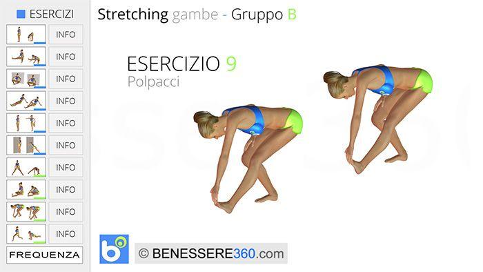 Stretching gambe, esercizio 09: polpacci