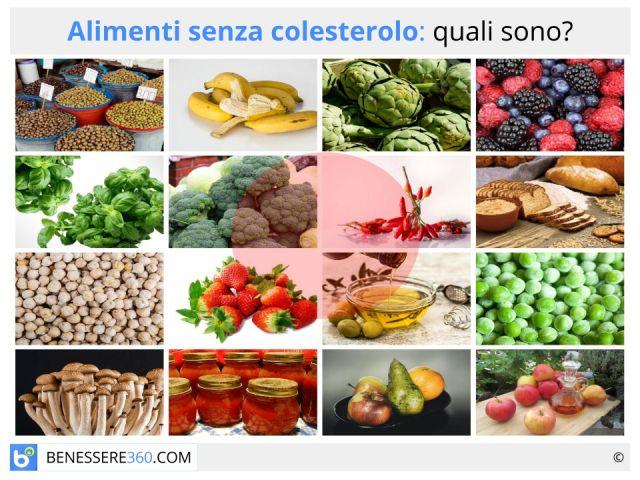 Alimenti senza colesterolo: lista dei cibi e valori