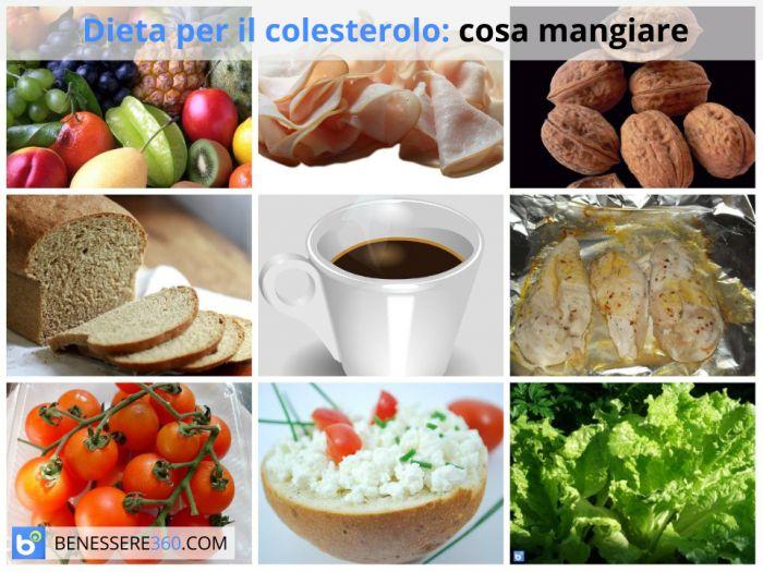 dieta per il colesterolo alto alimenti consentiti da
