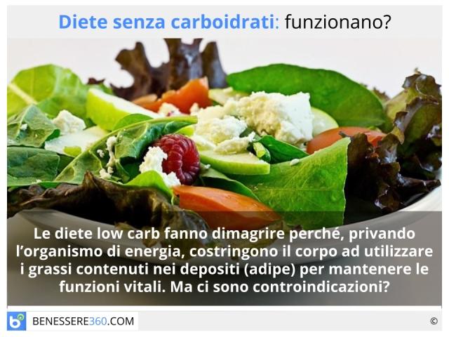 Dieta senza carboidrati: funziona per dimagrire? Menù tipo e rischi