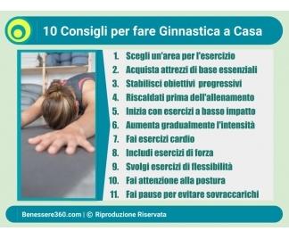 Esercizi di ginnastica in casa