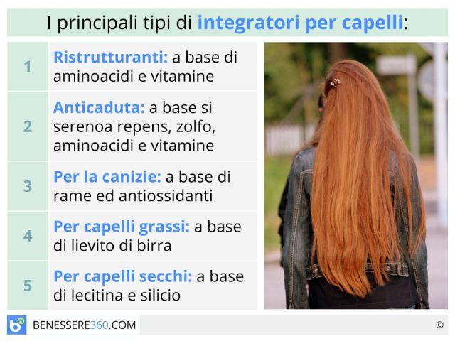 Integratori per capelli: ristrutturanti ed anticaduta contro la calvizie