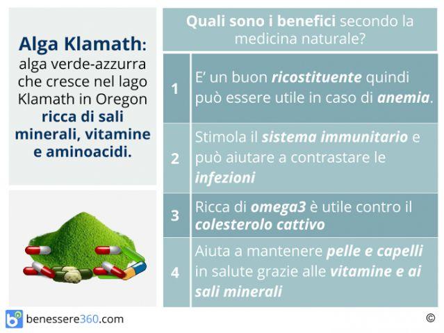 Alga klamath: proprietà, posologia, controindicazioni ed effetti collaterali