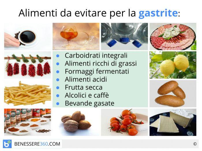 alimentazione per reflusso e gastrite