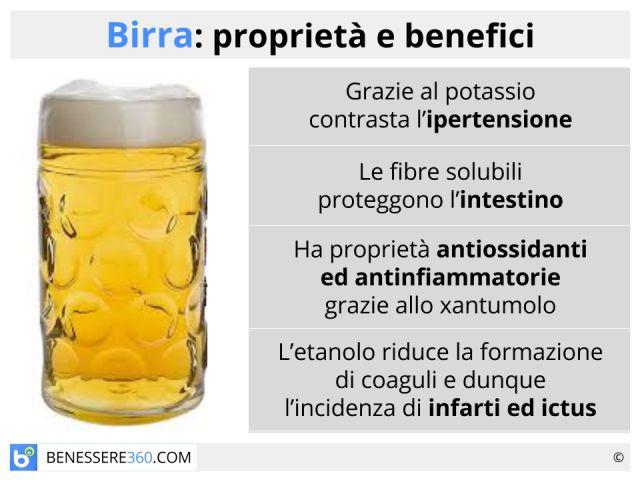 Birra: tipi, calorie, proprietà e controindicazioni