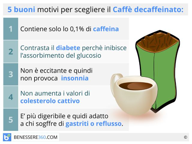 Caffè decaffeinato: fa male? È cancerogeno? Proprietà e controindicazioni