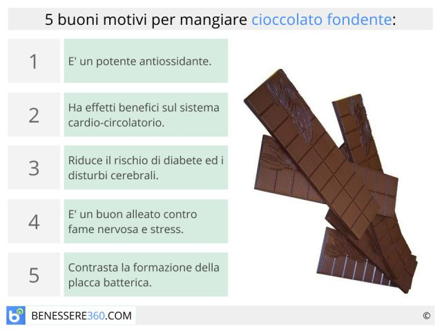 Cioccolato fondente: proprietà, benefici e calorie. Fa dimagrire?