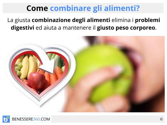 Combinazione degli alimenti: le associazioni alimentari corrette e quelle da evitare
