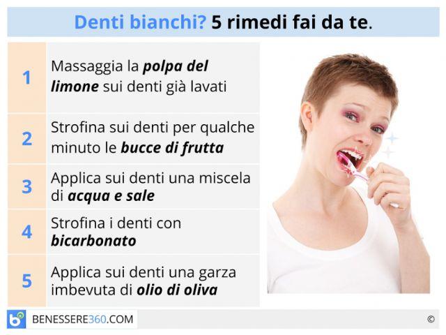 Come avere denti bianchi? Rimedi naturali e consigli fai da te