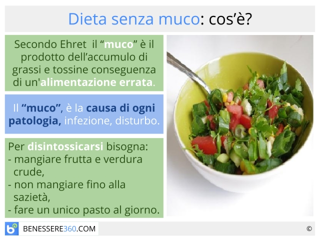 Dieta senza muco: cosa mangiare? Alimenti consigliati ed opinioni