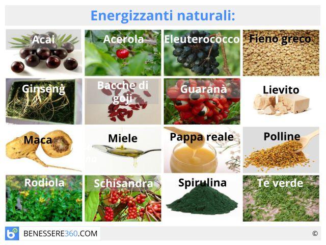 Energizzanti naturali: prodotti, alimenti ed integratori
