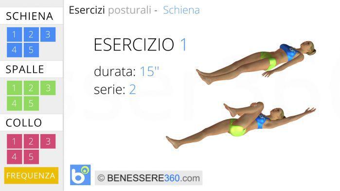 Esercizi posturali per la schiena 1