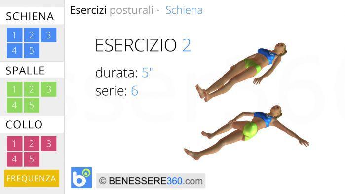 Esercizi posturali per la schiena 2