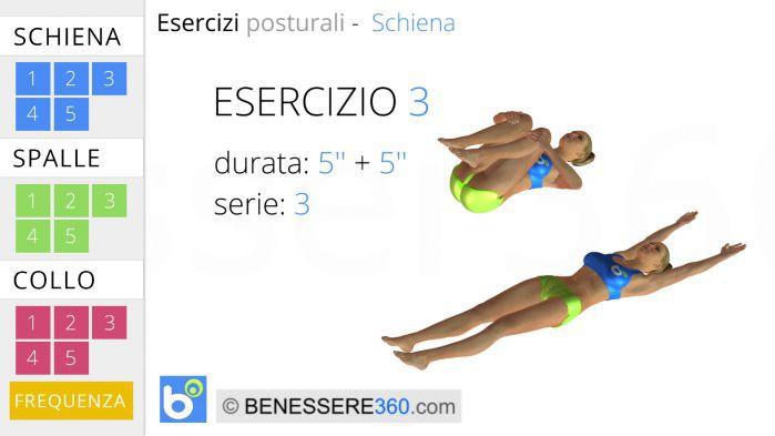 Esercizi posturali per la schiena 3