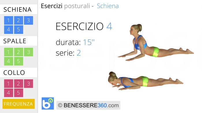 Esercizi posturali per la schiena 4
