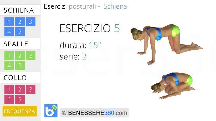 Esercizi posturali per la schiena 5