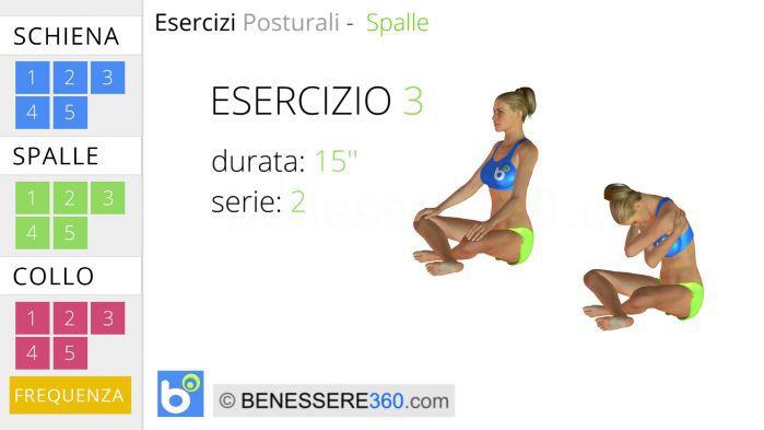 Esercizi posturali per le spalle 3