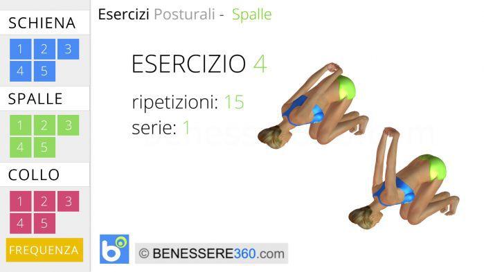 Esercizi posturali per le spalle 4