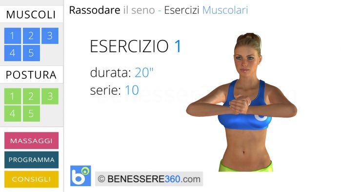 Esercizio muscolare  per seno - 1
