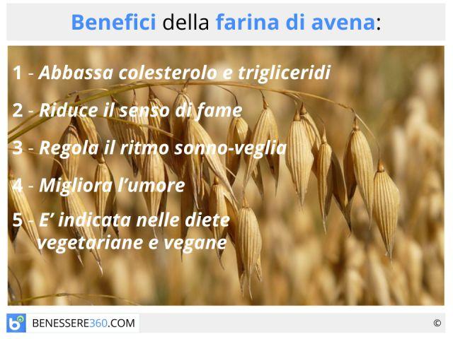 Farina d'avena: calorie e valori nutrizionali, proprietà e benefici