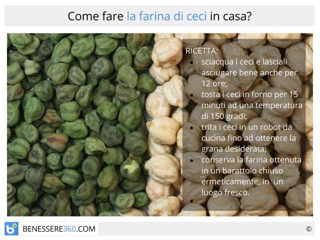 Farina di ceci: proprietà, valori nutrizionali, calorie e ricetta