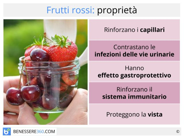 Frutti rossi: quali sono? Proprietà, benefici e controindicazioni