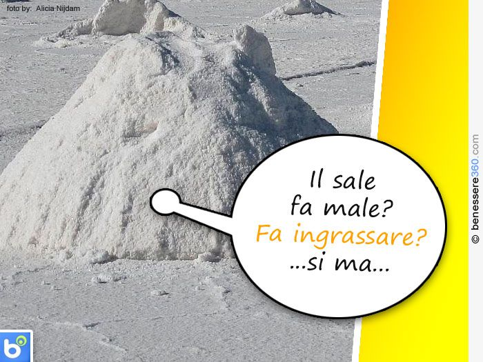 Il sale fa male e fa ingrassare
