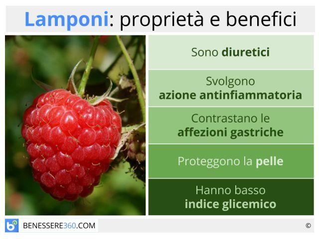 Lamponi: valori nutrizionali, proprietà e benefici delle diverse varietà