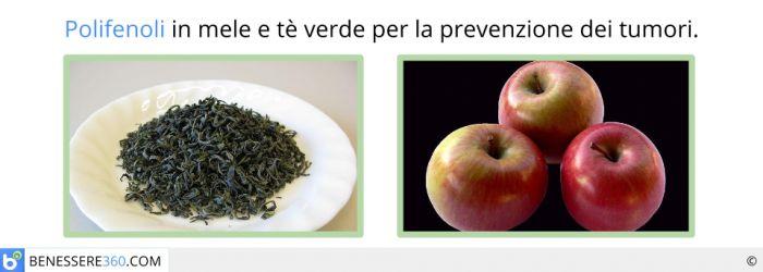 I polifenoli in mele e tè verde prevengono i tumori