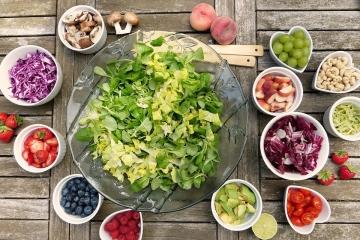 menu vegetariano equilibrato
