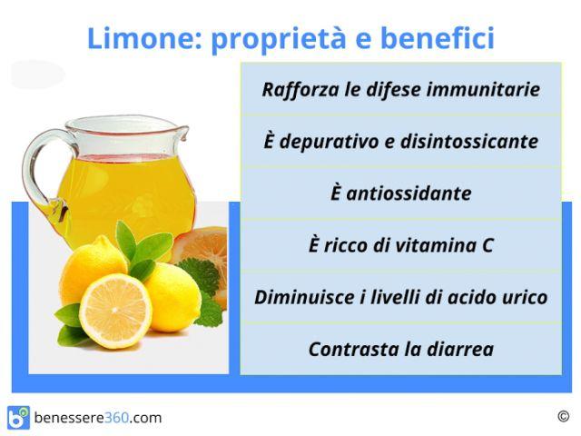 Limone: proprietà, benefici, calorie, valori nutrizionali e controindicazioni