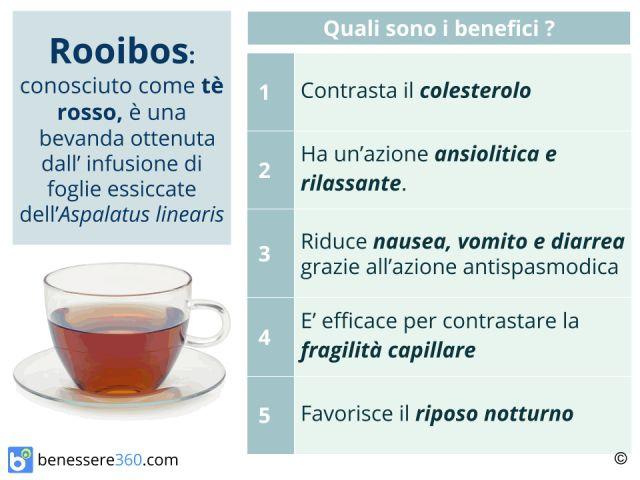 Rooibos: proprietà, benefici e controindicazioni del tè rosso