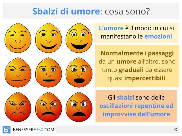 Sbalzi di umore: sintomi e cause dell'alterazione del tono dell'umore