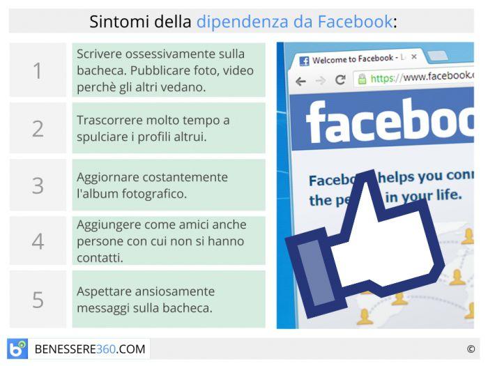 Sintomi della dipendenza da Facebook