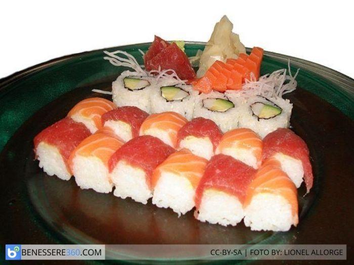 dieta a base di sushi calorie