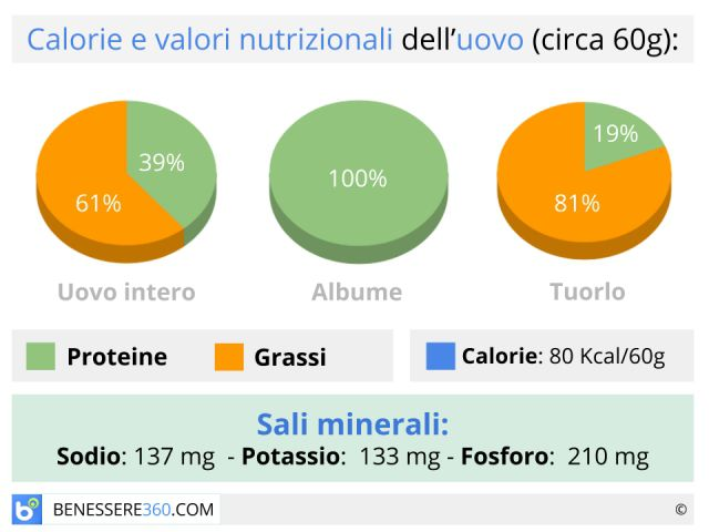 Uova: calorie e valori nutrizionali. Aumentano il colesterolo?